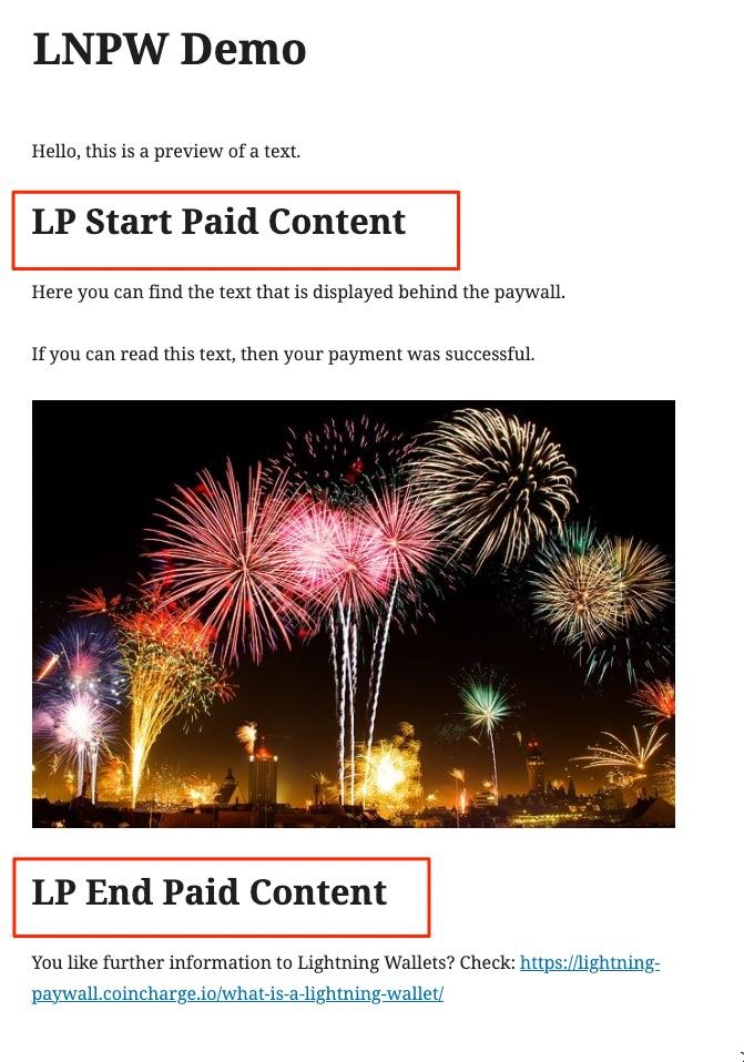 Lightning Paywall Gutenberg Demo Page