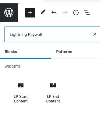 Lightning Paywall Gutenberg Block