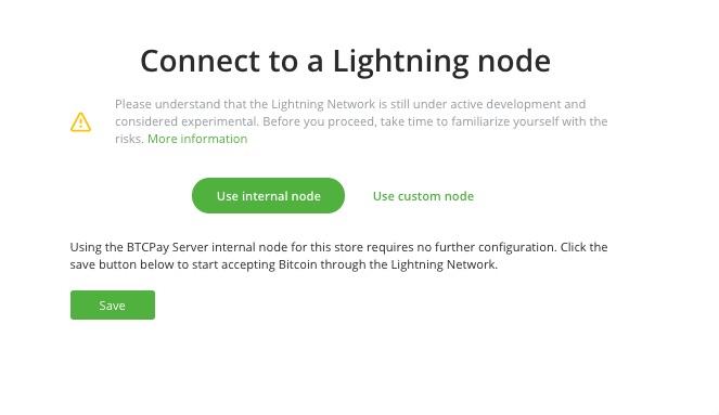 Connect Lightning Node