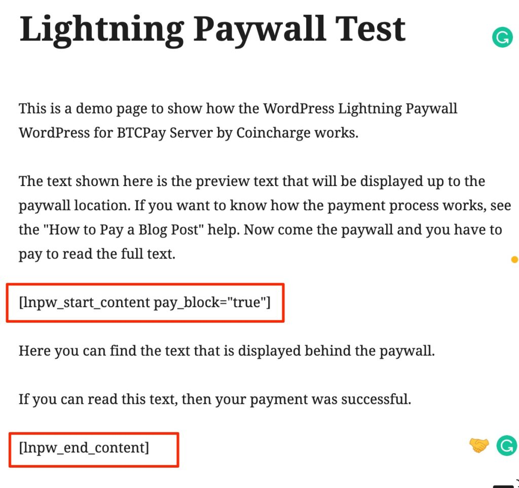 shortcode lightning paywall