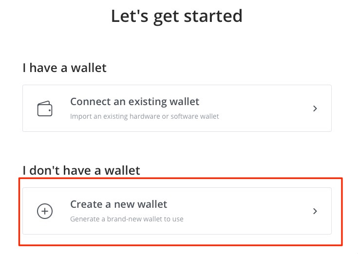 Create a new BTCpay Wallet